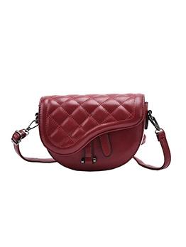 Vintage Style Rhombic Saddle Bag For Women