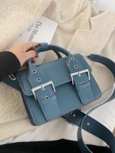 Korean Style Solid Color Square Cambridge Bag
