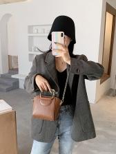 Lovely Metal Handle Women Mini Crossbody Bag