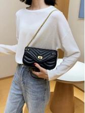Twist Threaded Mini Crossbody Bag With Chain