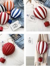 Contrast Color Hot Air Balloon Chain Bag