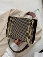 Fashion Zipper Underarm Chain Shoulder Bag
