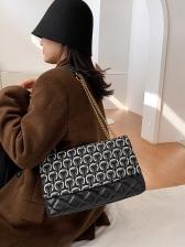 Chic Design Rhombic Large Capacity Chain Shoulder Bag