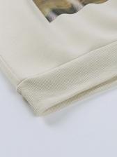 Versatile Paint Printed Sweatshirts For Women