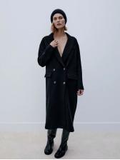 Euramerican Winter New Thicker Black Coat