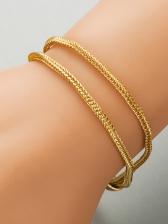 Simple Versatile Unisex Alloy Material Bracelet Chain