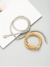 Create Snake Shape Rhinestone Necklace