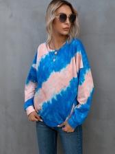 Fashion Tie Dye Crew Neck Sweatshirt