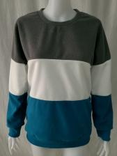 Euro Color Block Long Sleeve Sweatshirt