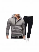 Outdoor Letter Hoodie Long Sleeve Activewear