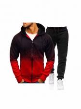 Fashion Print Mens Activewear Autumn