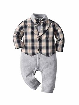 Fashion Plaid Baby Boy Sleepsuits