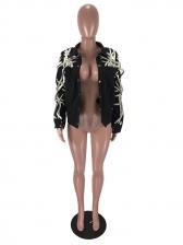 Chic Multiple Strings Single-Breasted Ladies Jacket