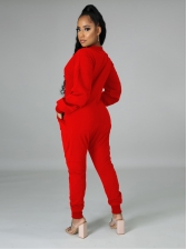 V Neck Solid Color Loose Casual Jumpsuits