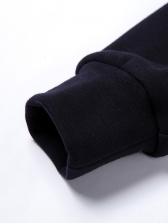 Casual Easy Match Black Printed Sweatshirt