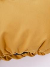 Contrast Color Thicker Women Winter Cotton Coat