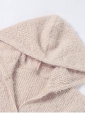 Autumn Solid Long Sleeve Hoodie Coat