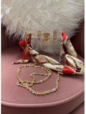 Chic Design Transparent Silk Scarf Shoulder Bag