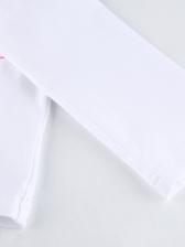 Crew Neck Long Sleeve Printed T Shirts