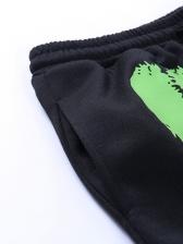 Letter Printing Straight Leg Pants For Women