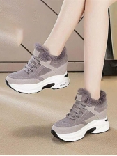 Casual Inner Faux Fur Women Elevator Shoes