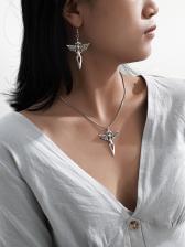 Simple Vintage Design Earrings Necklace Set