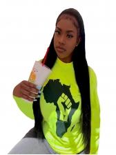 Fashion Print Long Sleeve Sweatshirt