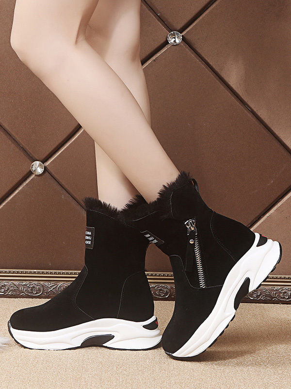 Chic Inner Fluffy Height Increasing Boots Online