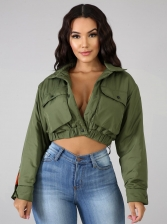Contrast Color Lined Cropped Jackets For Women