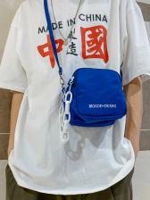 Leisure Pure Color Zipper Small Shoulder Bag