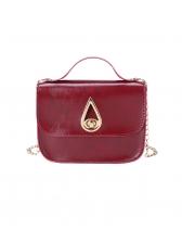 Retro Water Drop Twist Lock Chain Shoulder Bag