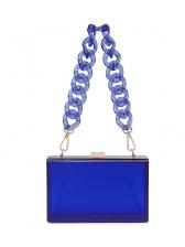 Transparent Acrylic Rectangle Chain Shoulder Bag