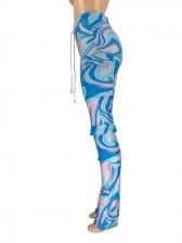 Tie Dye Print Pockets Cargo Pants For Women