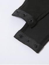 Versatile Solid Lantern Long Sleeve Bodysuits For Women