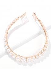 Euramerican Style Versatile Faux-Pearl Hair Hoop