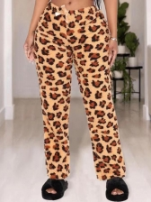 Sexy Leopard Loose Long Pants Women