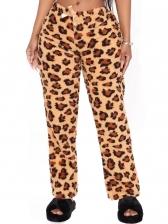 Sexy Leopard Loose Long Pants Women