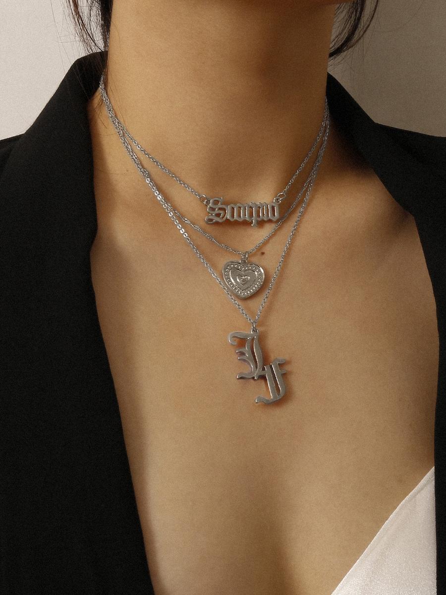 Street Create Design Silver Pendant Necklace