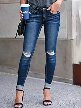 Fashion Ripped Women Slim Fit Jeans