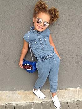 Fashion Denim Girls Cute Rompers