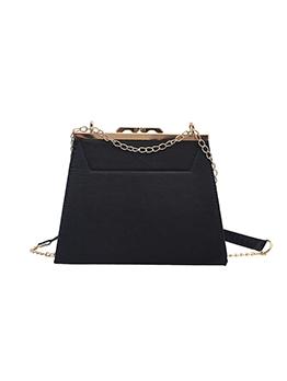 Vintage Threaded Solid Chain Shoulder Bag