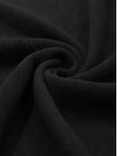 Autumn Letter Print Long Sleeve Casual Black Hoodie