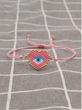 Bohemian Style Simple Beads Heart Bracelet