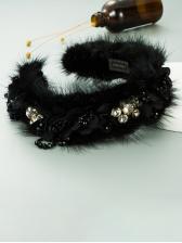 Plush Catwalk Fashion Temperament Hair Hoop