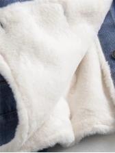Fashion Thicken Plush Denim Coat