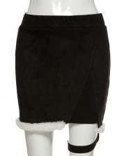 Sexy High Waist Plush Skirt Autumn