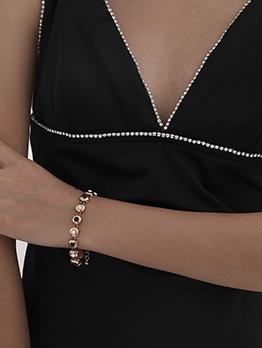 Simple Retro Design Copper Chain Women Bracelet