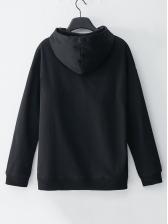 Star Space Print Pockets Pullover Hoodies Fashion