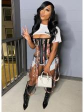 Fashion Camouflage Zipper Corset For Women