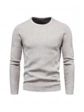Fashion Solid Casual Autumn Men Sweater